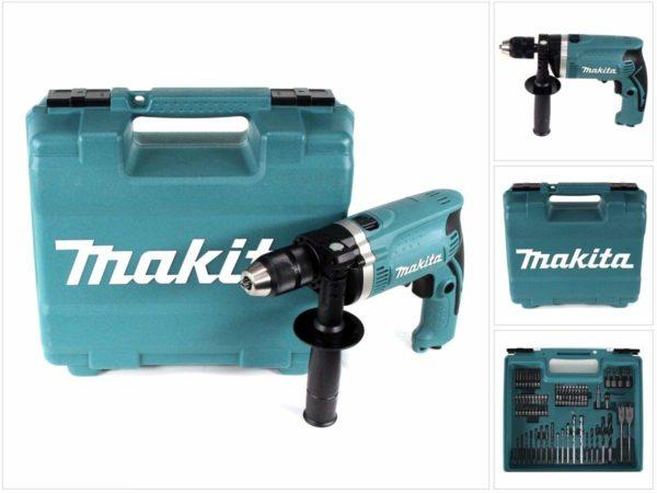 Makita HP1631KX3 – Klopboormachine in koffer, 710 W, inclusief 74-delige accessoires