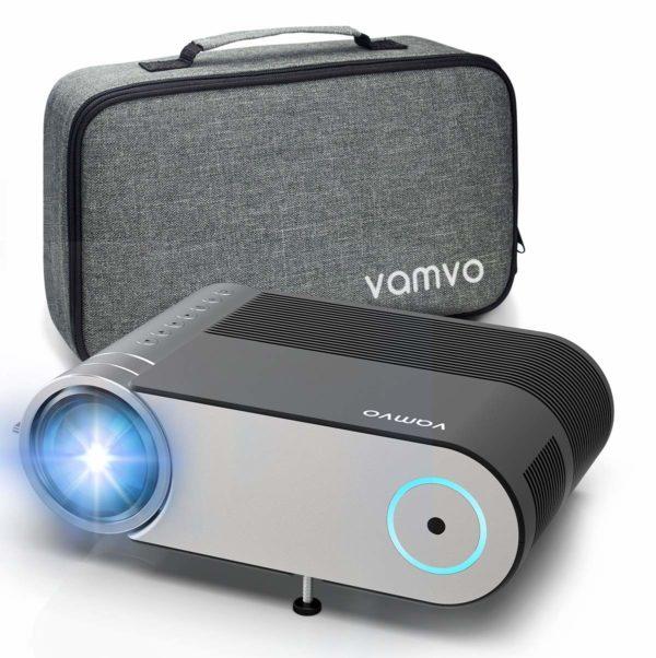 Vamvo Mini-beamer, full HD 4000 lumen, projector 1280 x 720P met draagtas